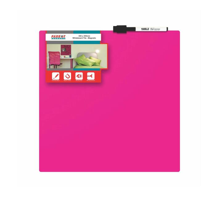 PARROT PRODUCTS Magnetic Whiteboard Tile (355*355mm, Pink)