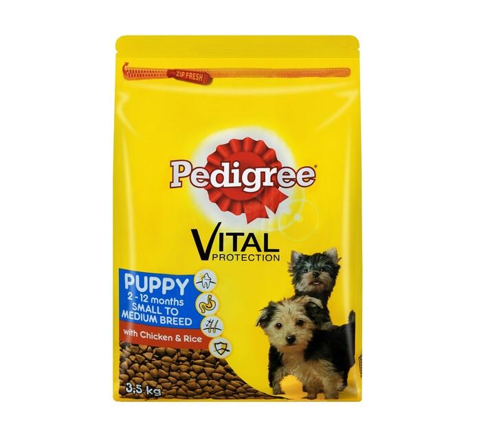 PEDIGREE Puppy Dry Dog Food Chicken and Rice (1 x 3.5kg)
