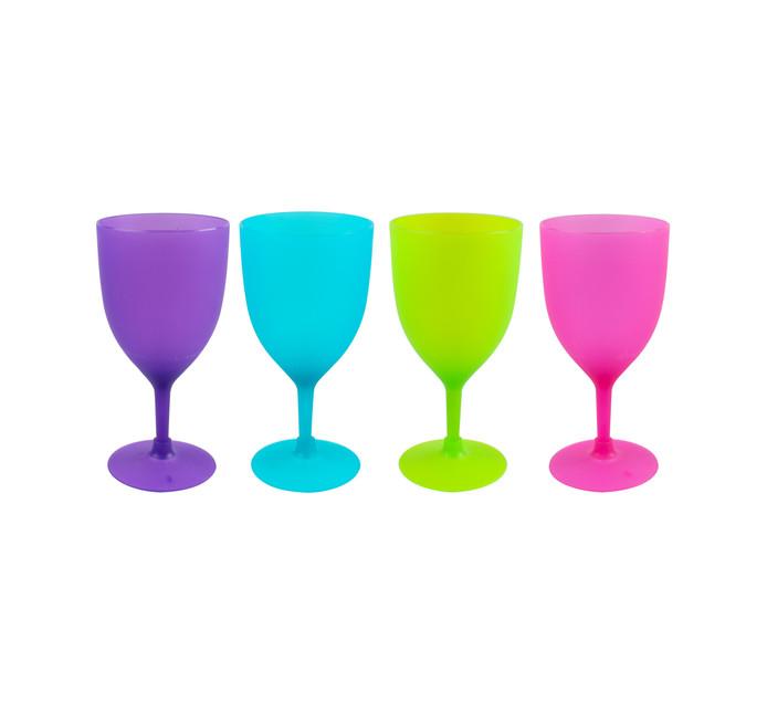 Leisure Quip 4-Piece 400 ml Polypropylene Wine Goblet Set