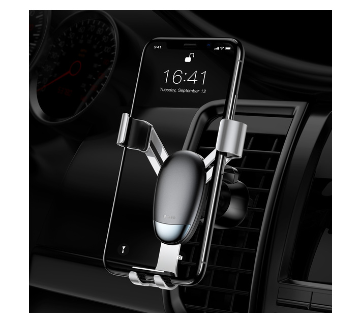 Baseus Mini Gravity Car Aircon Vent Smartphone Mount Holder - Black
