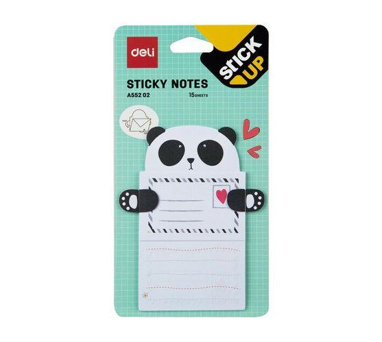 Deli Stationery Sticky Notes 76×101Mm 3``×4`` 15 Sheets Asst.
