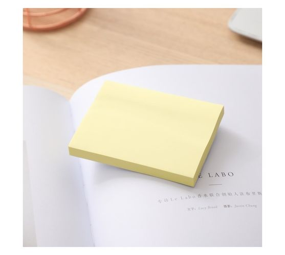 Deli Stationery Sticky Notes 76×101Mm 3``×4`` 100 Sheets Yellow