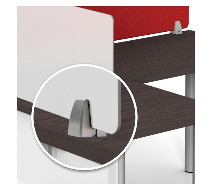PARROT PRODUCTS Aluminium Alloy Desk Partition Clamp 40x30x58mm