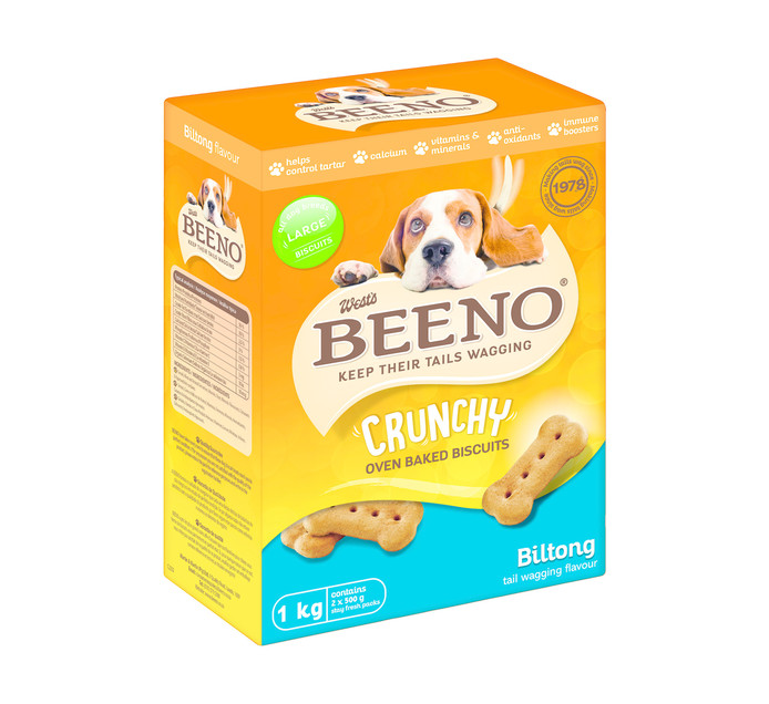 Beeno Dog Biscuits Biltong Large (1 x 1kg)