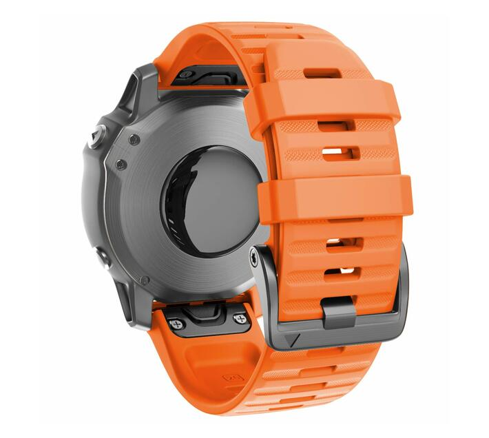 Replacement Silicone Band for Fenix 6X(26mm) - Orange