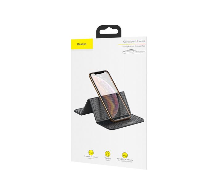 Baseus Folding Bracket Antiskid Pad Mount Holder - Black