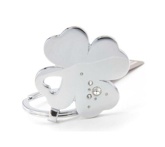 Troika Lucky Clover Keyring Silver