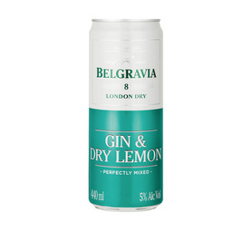 BELGRAVIA GIN AND DRY LEMON CAN 440ML