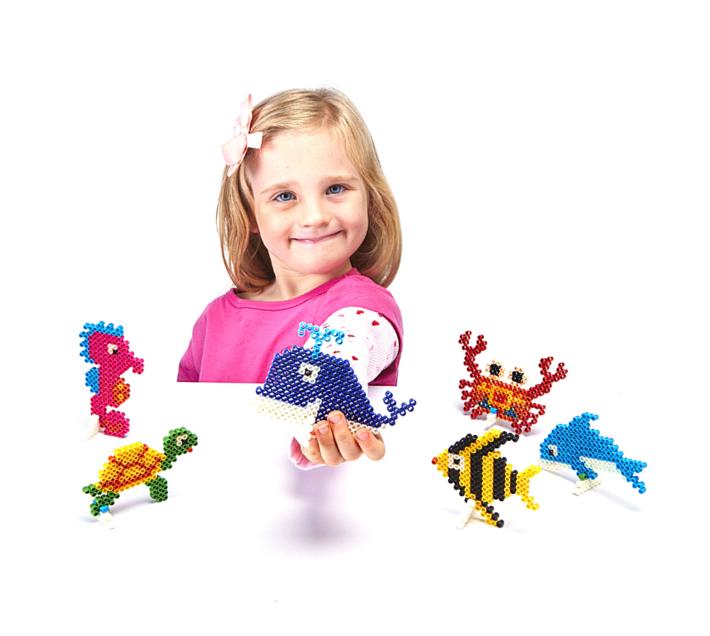 JKA - Iron On Bead Craft Toy - Double Combo Kit - Frog & Turtle