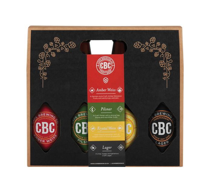 CBC Amber Weiss/Pilsner/Lager/Crystal Weiss in Giftpack (4 x 440ml)