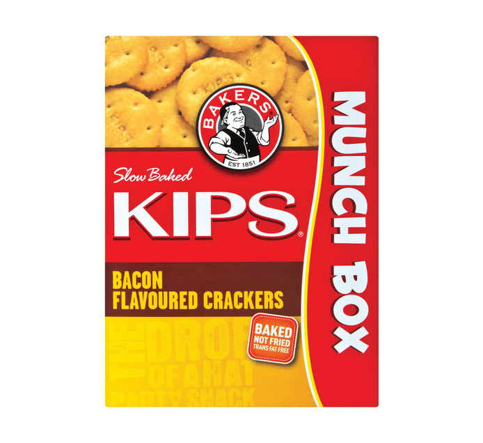 Bakers Kips Savoury Biscuits Bacon (1 x 200g)