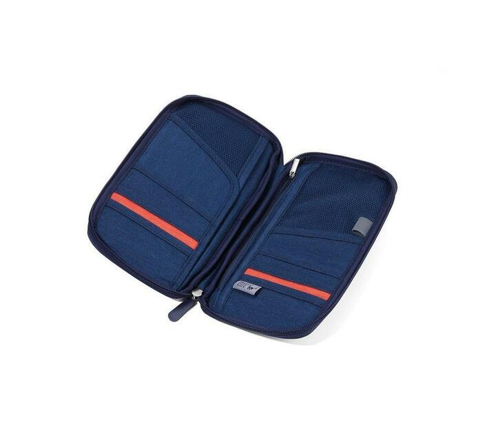 Troika Travel Document Case with RFID Fraud Prevention Safe Flight Blue