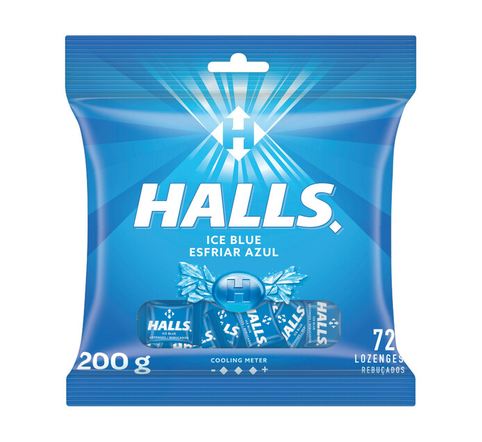 Halls Lozenges Bag Ice Blue (1 x 72's)