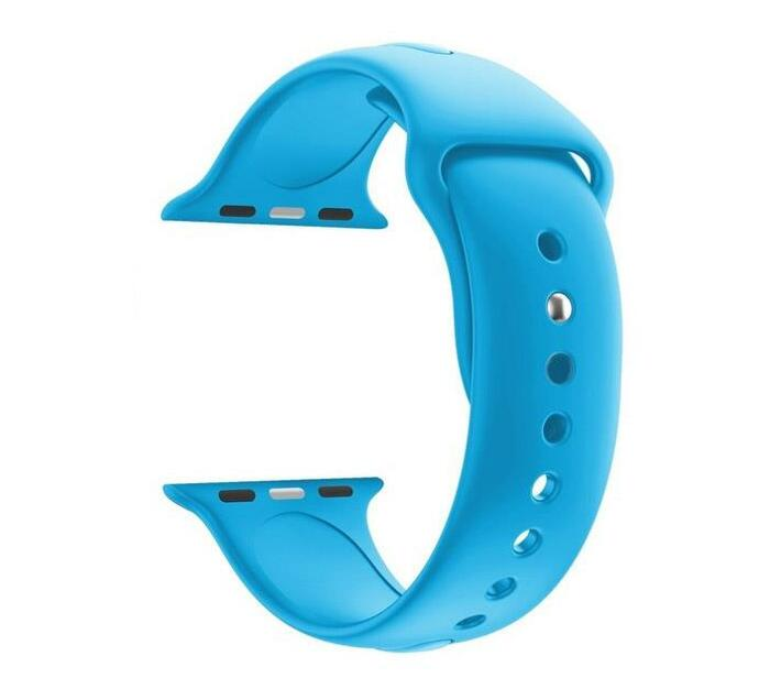 38mm Silicone Apple Watch Strap by Zonabel - Sky Blue