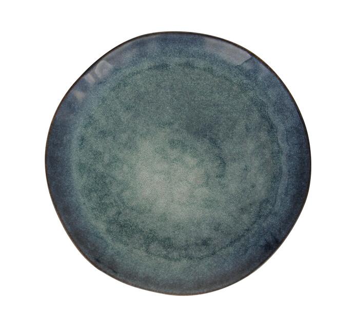 28 cm Fresh Blue Hammered Glaze Dinner Plate