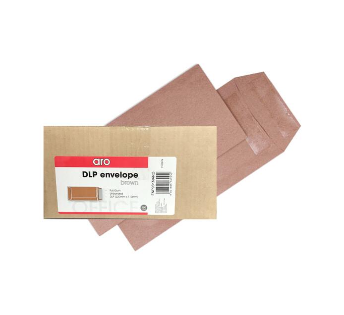 ARO DL Pocket Envelopes Brown 500-Pack