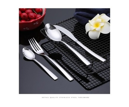 Maisonware 24 Piece 410 Grade Stainless Steel Dinnerware Cutlery Set - Silver