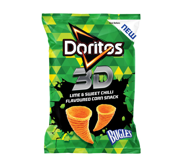 Doritos 3D Bugles Corn Snack Lime And Sweet Chilli (20 x 100g)