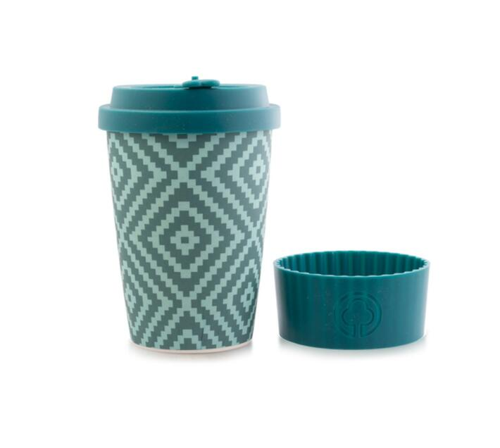 Bamboo Cup 400ml Blue