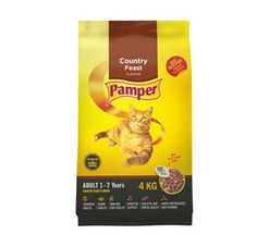 Pamper Dry Cat Food Country Feast (4 kg)
