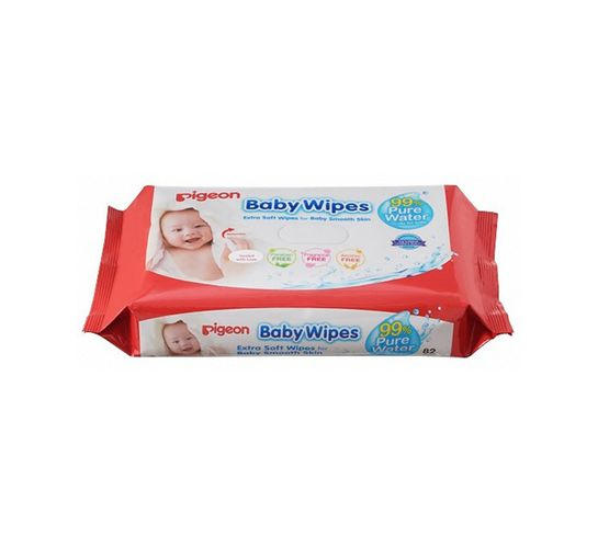 PIGEON BABY WIPES 80'S 100% WATER 6-in-1