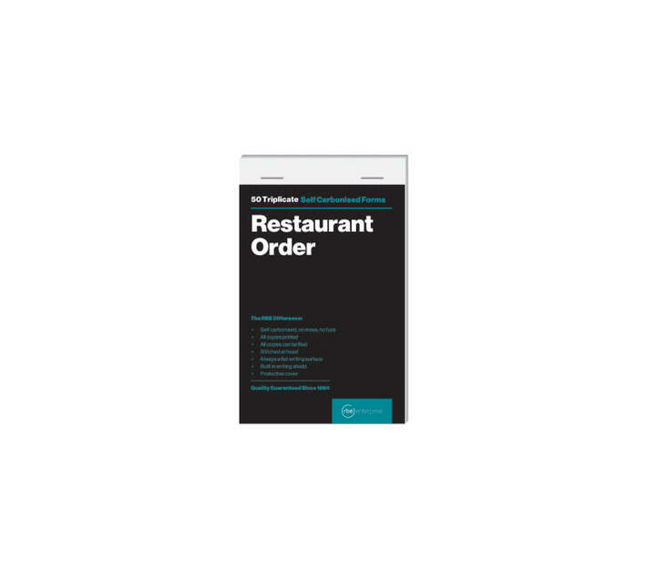 RBE: Bulk pack of 5 Restaurant Order Triplicate (148x95)