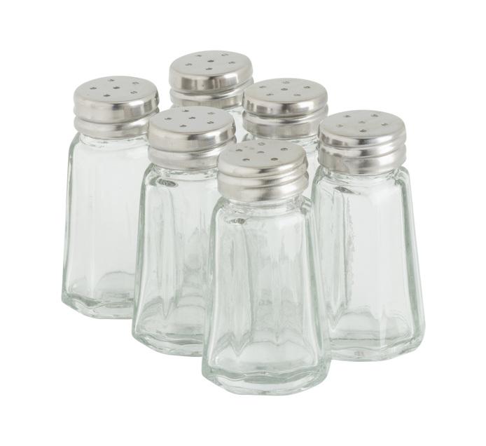 REGENT 6 Pack Salt & Pepper Set