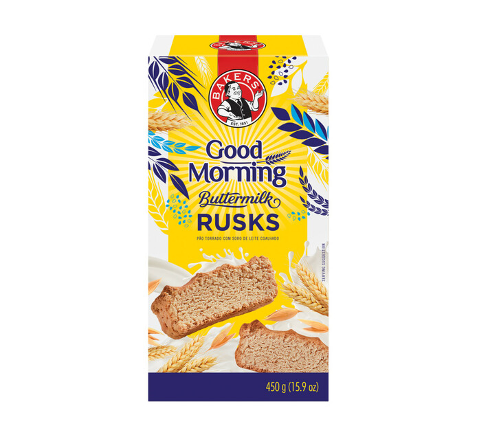 Bakers Good Morning Rusks Buttermilk (1 x 450g)