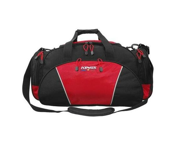 2629 Black/ Red Kings Urban gear Dome shaped Travel Carry bag