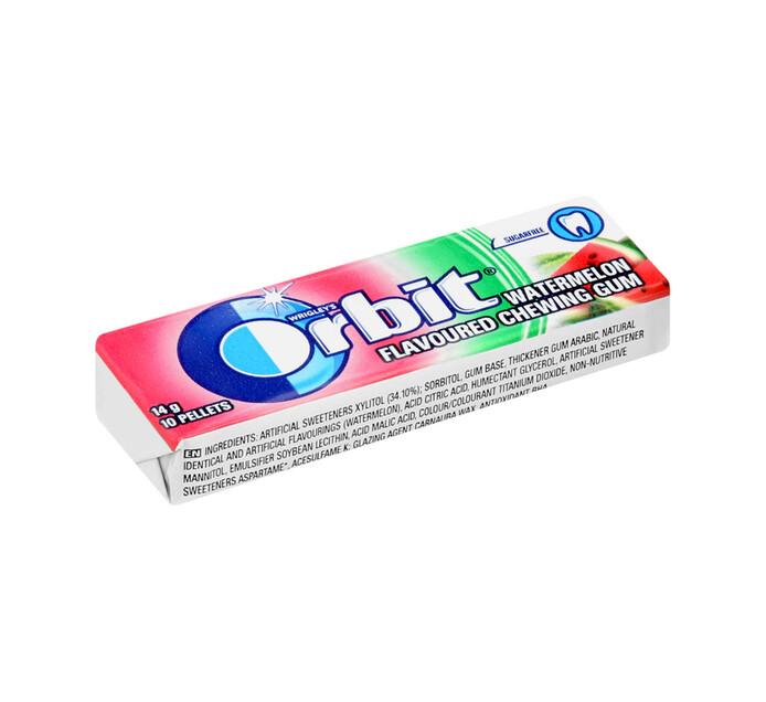 ORBIT S/F GUM PELLET PK 10PC, W/MELON