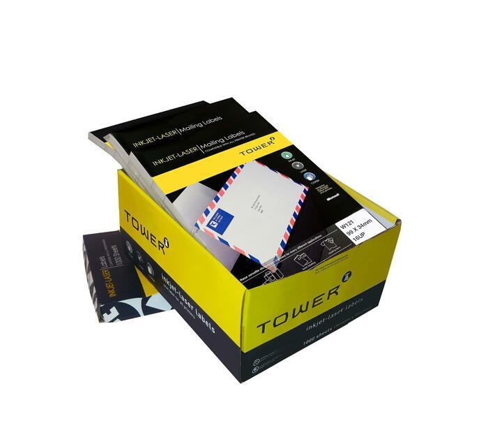 A4 Inkjet - Laser Labels - W121 - 33.9x99mm - 16UP - 1000 Sheets