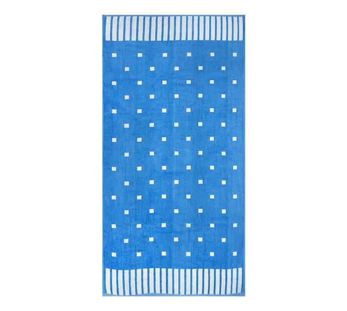 Polka Squares Beach Towel 2019 90x180cms 700gms - Turquoise