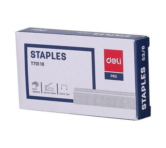 Deli Stationery Staples Staple - 53/81000Pcs Sliver