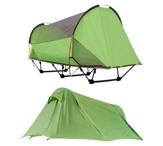 Tunnel Shaped Freestanding Camping Tent, Hiking And Motorcycling Tours