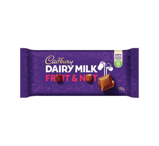 Cadbury Chocolate Slabs Fruit&Nut (1 x 150g)
