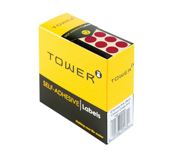 Tower C19 Colour Code Labels Red Dot Each
