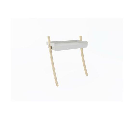 Leaning Desk Full Drawer - White