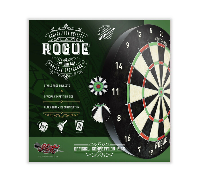 Shot Rogue Bristle Dartboard