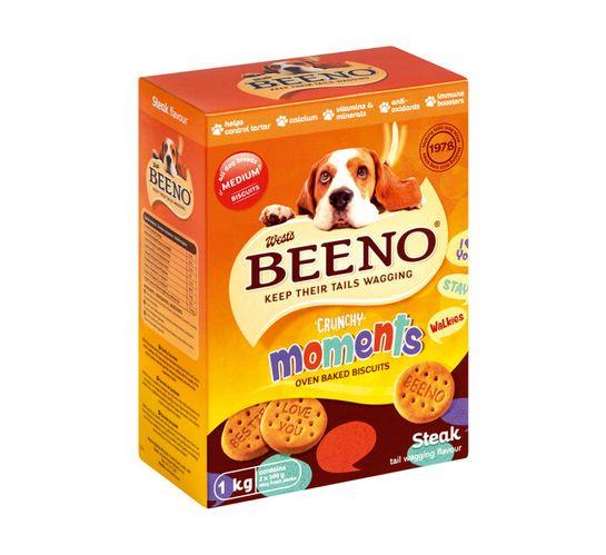 Beeno Dog Biscuits Large Steak (12 x 1kg)