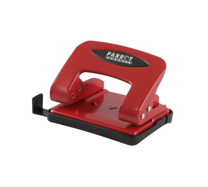 PARROT PRODUCTS Steel Hole Punch (20 Sheets, Red)