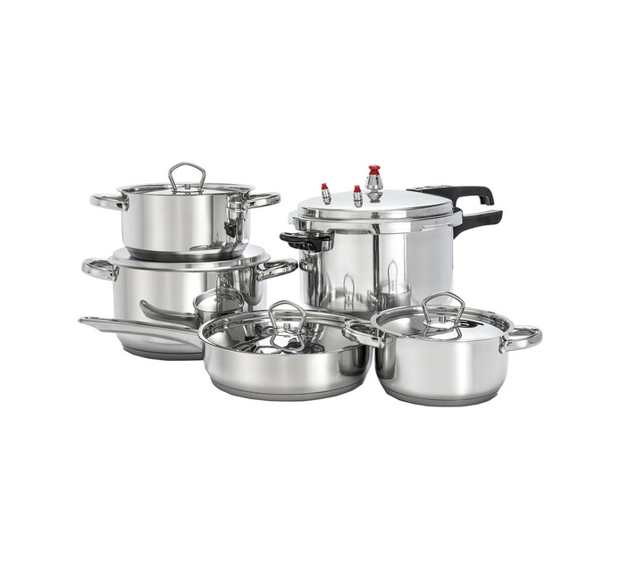 Tissolli 8-Piece Stainless Steel Cookware Set plus 7l Pressure Cooker