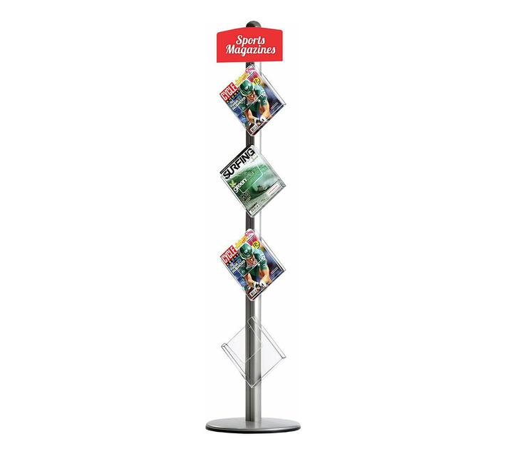PARROT PRODUCTS Novel Free Standing Leaflet Dispenser (4 x A4 Brochure Holders)