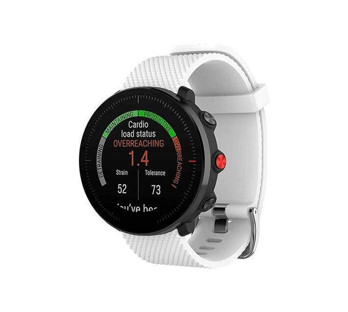 Polar Vantage M Compatible Soft Silicone Watch Strap-White