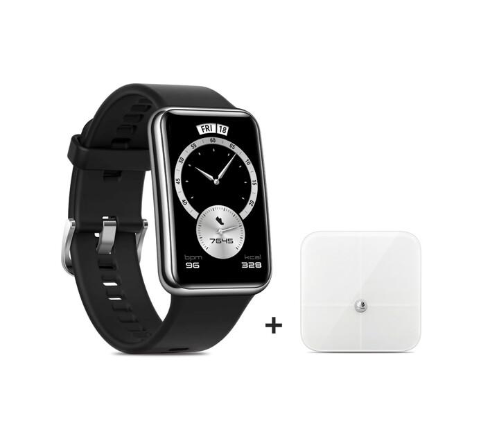 Huawei Watch Fit Elegant (Black) plus Fat Scale Bundle
