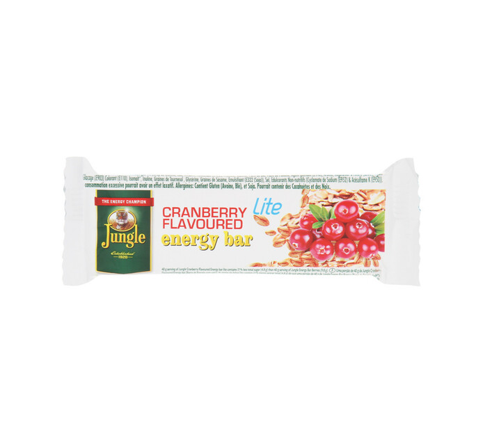 Jungle Energy Bar Lite Cranberry (1 x 30's)