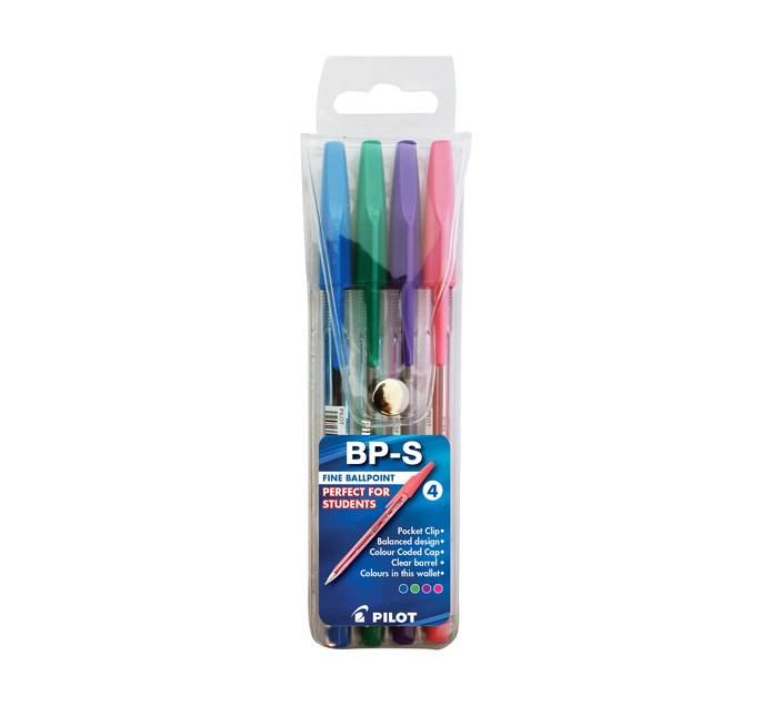 Pilot BPS Ballpoint Pen Assorted 4 Pack Assorted