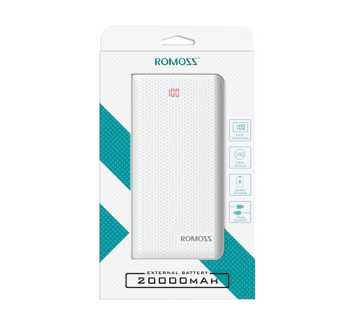 Romoss Sense 6 20000mAh Power Bank White