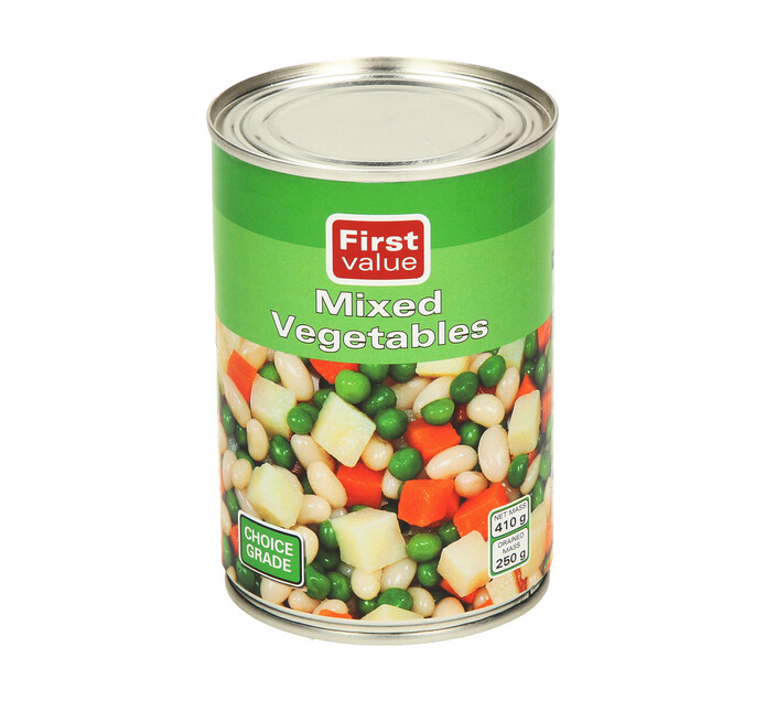 First Value Mixed Vegetable (12 x 410g)