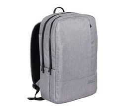 Kingsons Urban Series Backpack in Grey with Two Main Zippered Compartments and Adjustable Padded Shoulder Straps