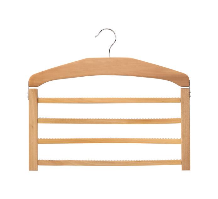 Accent 4 Bar Wooden Trouser Hanger